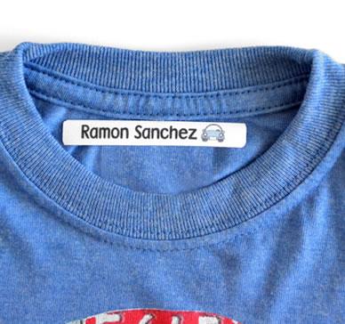 Etiqueta termoadhesiva para marcar la ropa